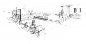 esquisse jardins Paysagiste à Bedoin - Le Barroux - Mallemort du comtat - Villes sur Auzon - Mormoiron - Beaumes de Venise - Carpentras - Vaucluse - pres du mont ventoux